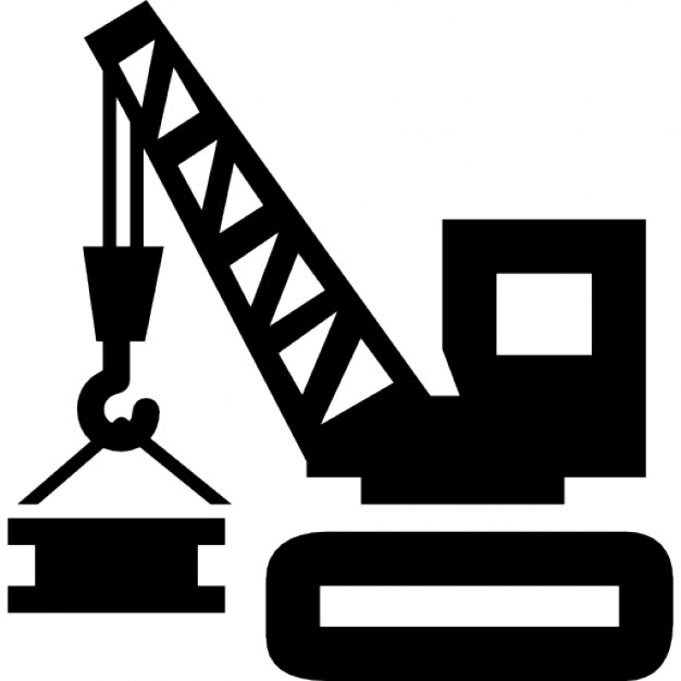 Construction tool vehicle with crane lifting materials