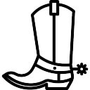 Cowboy boot coloring pages