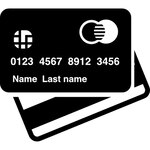 Credit card front and back view