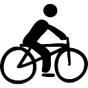 Cyclist on bicycle