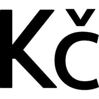 czech koruna symbol