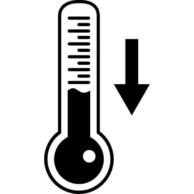 Descending temperature on thermometer tool