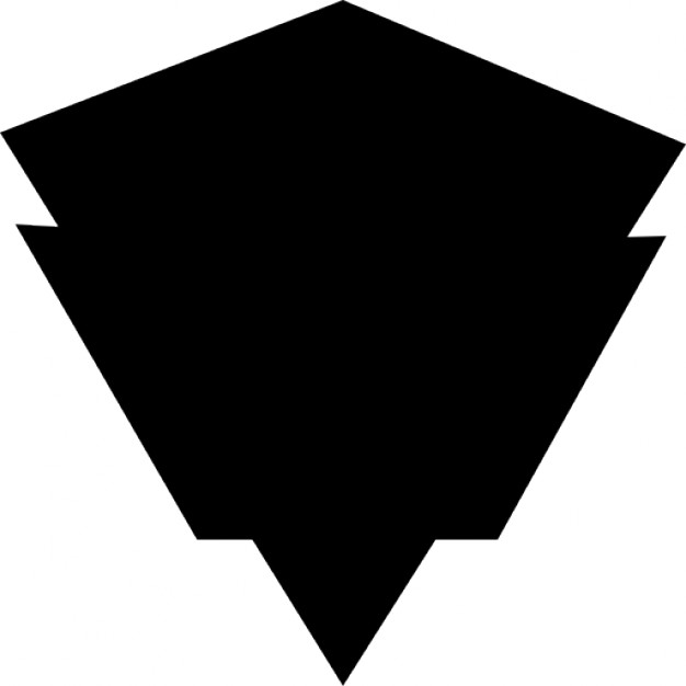 Diamond shaped war shield