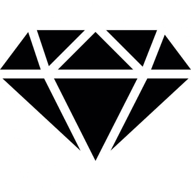 Diamond with white outline