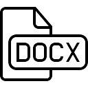 Docx file type interface symbol of stroke