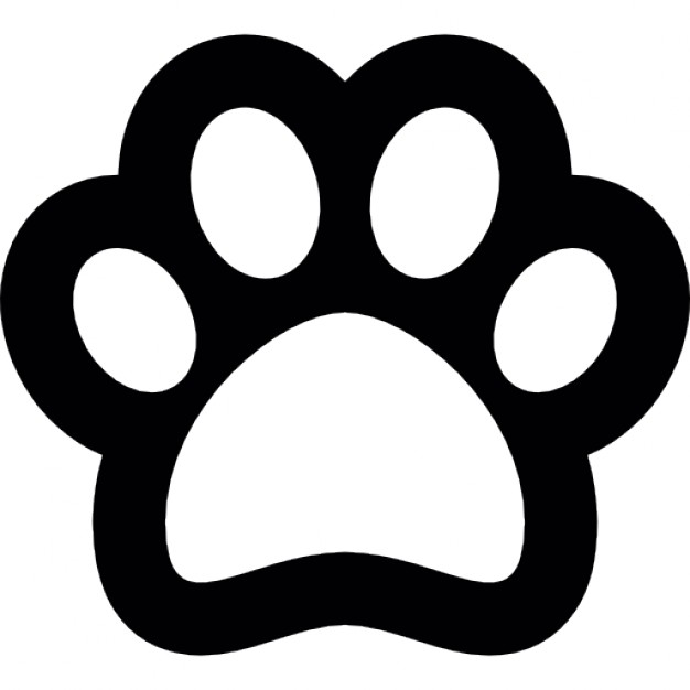 Dog footprint outline