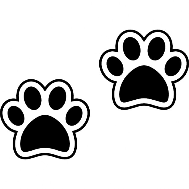 Dog pawprints