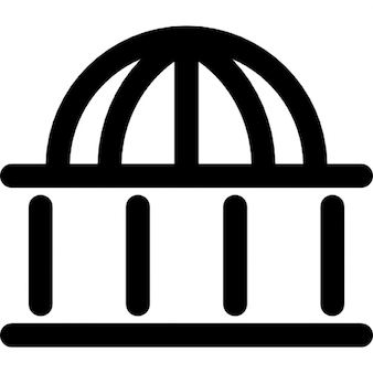 Dome shaped building outline