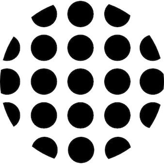 ドット円形