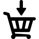 Down arrow on shopping basket
