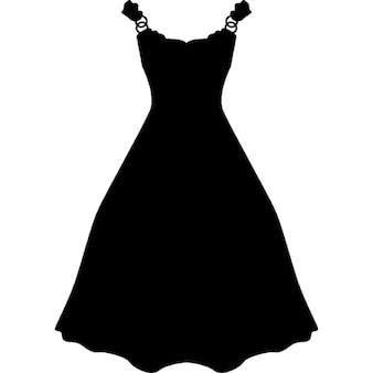 Dress long and black shape