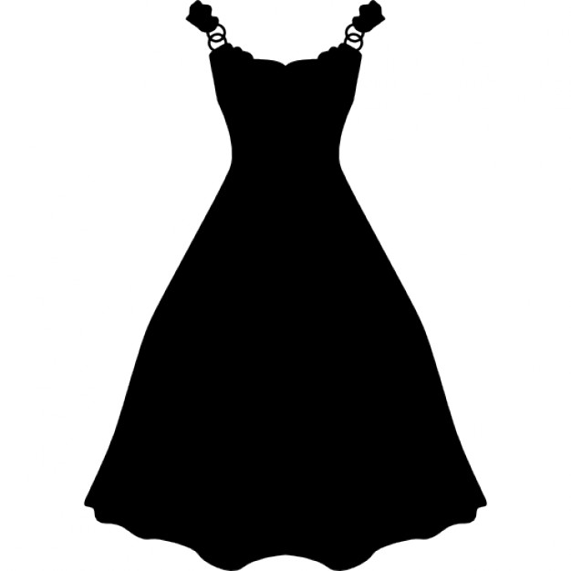 Dress long and black shape