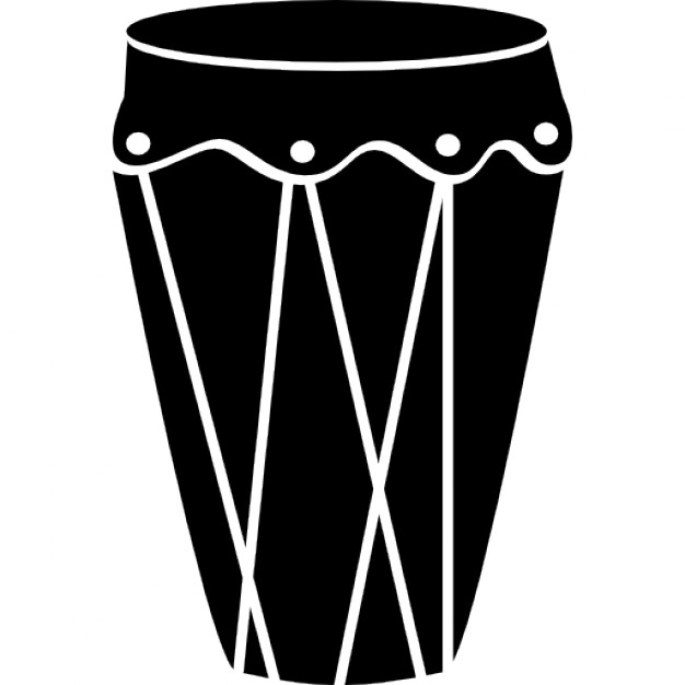Drum of tall and black shape