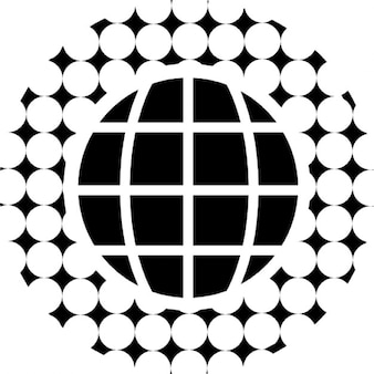 周りの円形パターンとアースグリッド