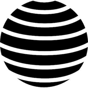 横縞模様と地球のシンボル
