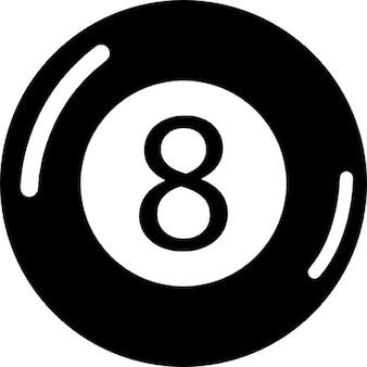 Eight ball billiards