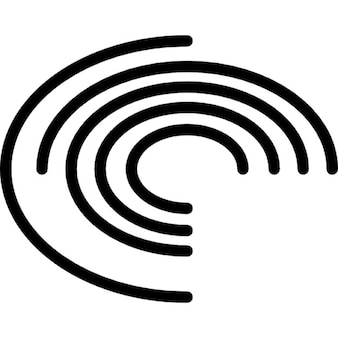 Electronic board with concentric circles