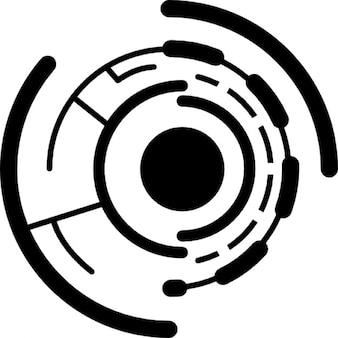 Electronic circular printed circuit