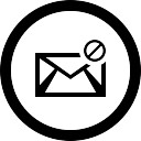 Email spam circular interface button