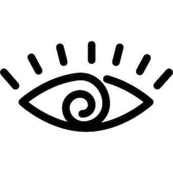 Eyes cartoon variant outline