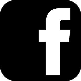 Facebook sign of letter f inside a black rounded square shape