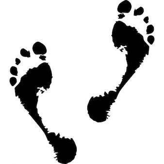Fading human footprints