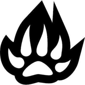 Feline paw shape