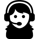 Female assistant of a call center