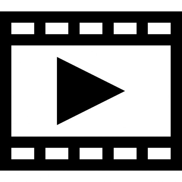 Film strip with play triangle