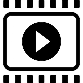 Film strip with right arrow interface symbol
