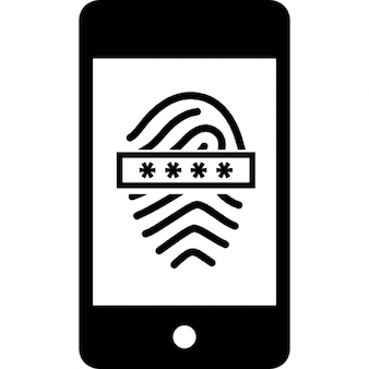 Fingerprint scanner with password on mobile phone