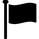 Flag filled shape