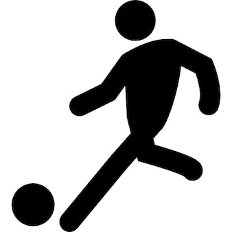 Football player setting ball