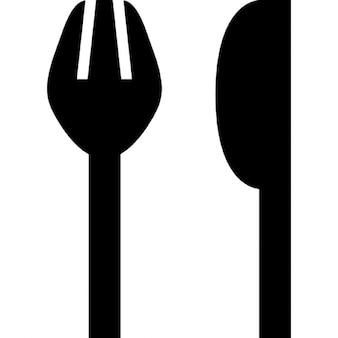 フォークとナイフのシルエット