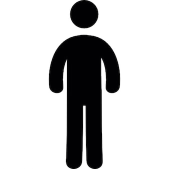 Frontal standing man silhouette