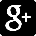 Google Plus logo on black background