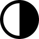 Полумесяц фаза символ круговой погода