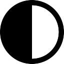 Полумесяц фаза символ интерфейс погода