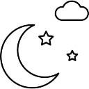 Half Moon Stars And Cloud