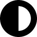Полумесяц погода круглый символ