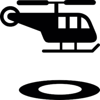 Helicopter and circular landing strip