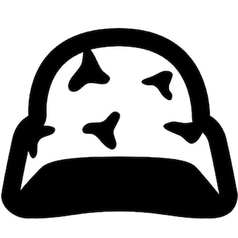 Helmet with camouflage