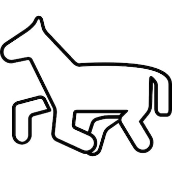 Horse pony cartoon outline