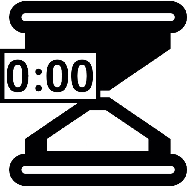 Hourglass with timer ready to start