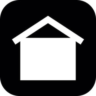 正方形の黒い背景に家