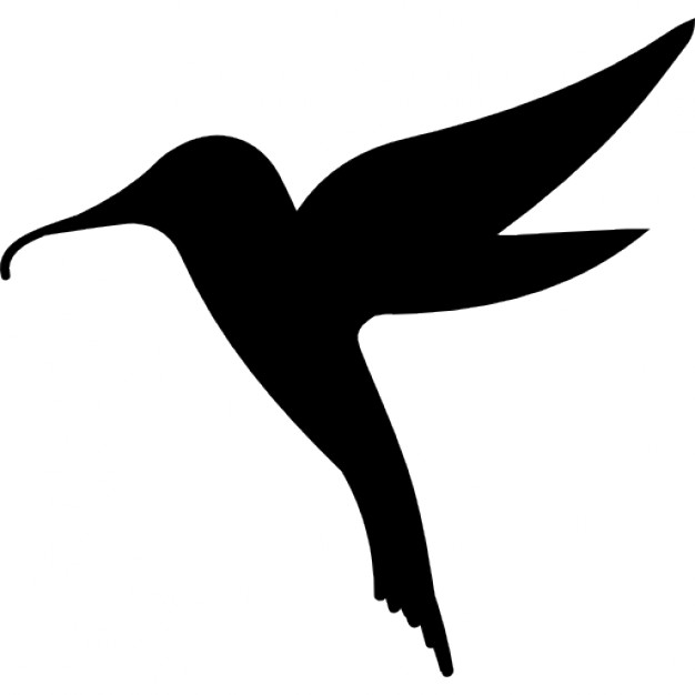 Hummingbird bird shape