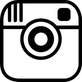 Instagram photo camera logo outline