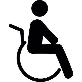 Invalid on wheels chair