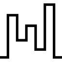 Irregular line shape of buildings