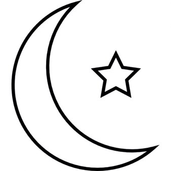 Islamic crescent with small star